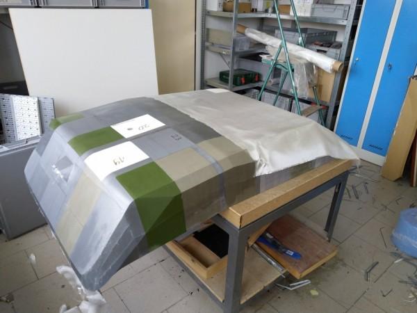 Laminování povrchu prototypu