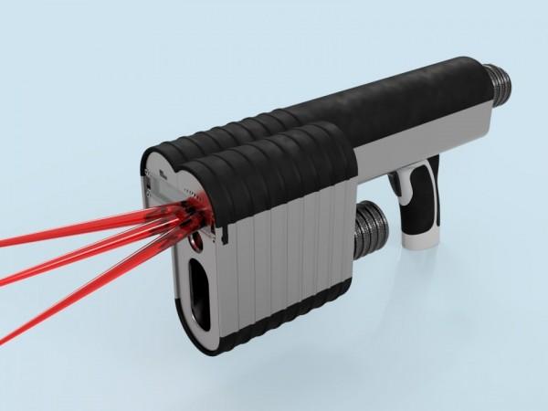 Čistící laser - vizualizace